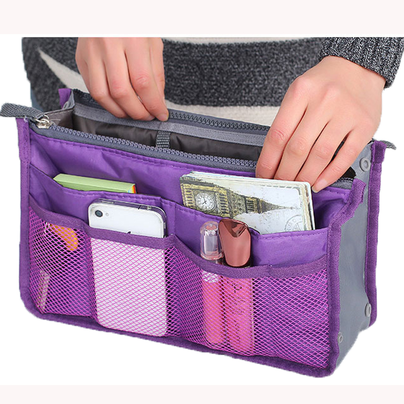 2017 Real New Solid 3 Colors Make Up Organizer Bag Women Men Casual Travel Functional Cosmetic
