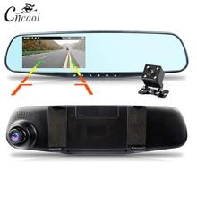 Cncool Автомобильный dvr камера 4,3 дюймов зеркало заднего вида двойной объектив Автомобильный видеорегистратор dvr Full HD 1080 P DVRs регистратор Dashcam регистраторы