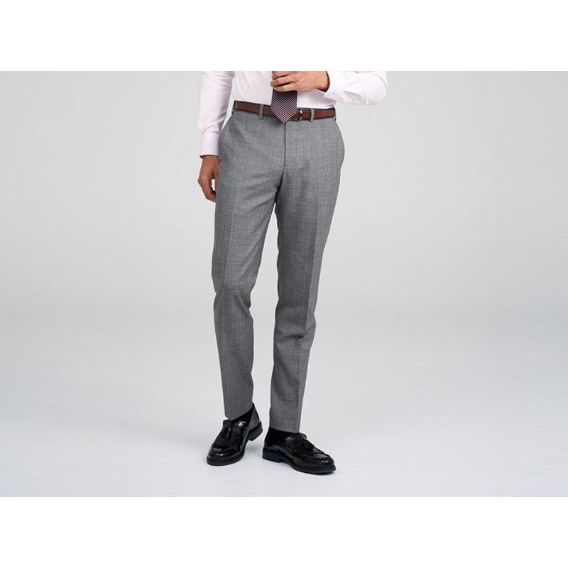 Shenrun gris clair hommes d'affaires pantalons sur mesure Skinny 100% laine bleu pantalon sur mesure pour hommes grande taille fournisseur personnalisé
