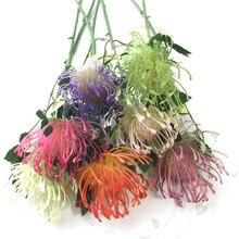 11pcs plastic dandelion flower single head/piece Leucospermum cordifolium artificial flowers 17.72 long Fake Hydrangea