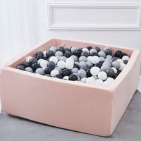INS Children's Play House Baby Ocean Ball Pool Pit Grey Pink Blue Kids Fencing Manege Tent Square Play Ball Pits Toys Outdoor Fu