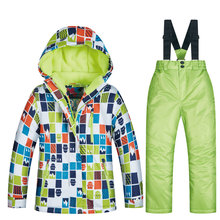 High Quality Ski Suit For Boys Winter Children #8217 s Windproof Waterproof Super Warm Snow Skiing And Snowboarding Jacket And Pants cheap MUTUSNOW NYLON Polyester spandex Microfiber COTTON Hooded 2018 MTRT Fits true to size take your normal size Jackets Anti-Wrinkle