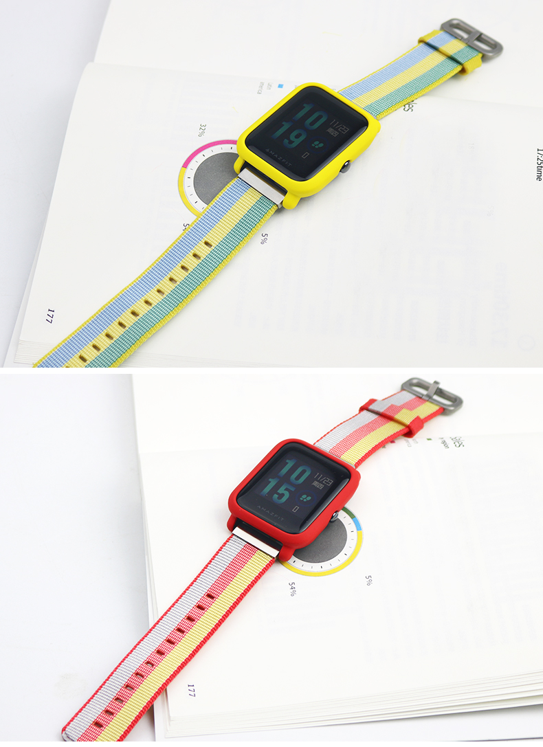 Sikai For Xiaomi Huami Amazfit Watch Pace 2 Stratos Cover Bumper Case Shell Frame Protector Silver