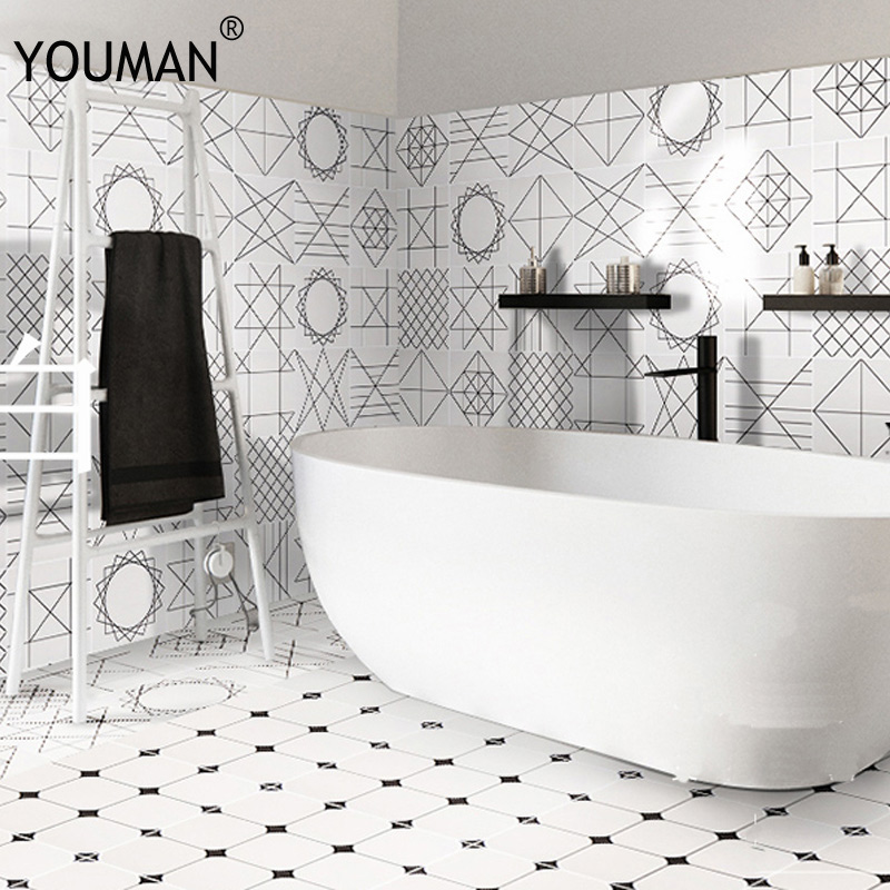 Wallpapers Youman Vinyl Wallpaper Self Adhesive Mosaic Tiles 3d Pvc Wallpaper Sticker Flash For Cupboard Wall Papers Home Decor Last Style Home Improvement