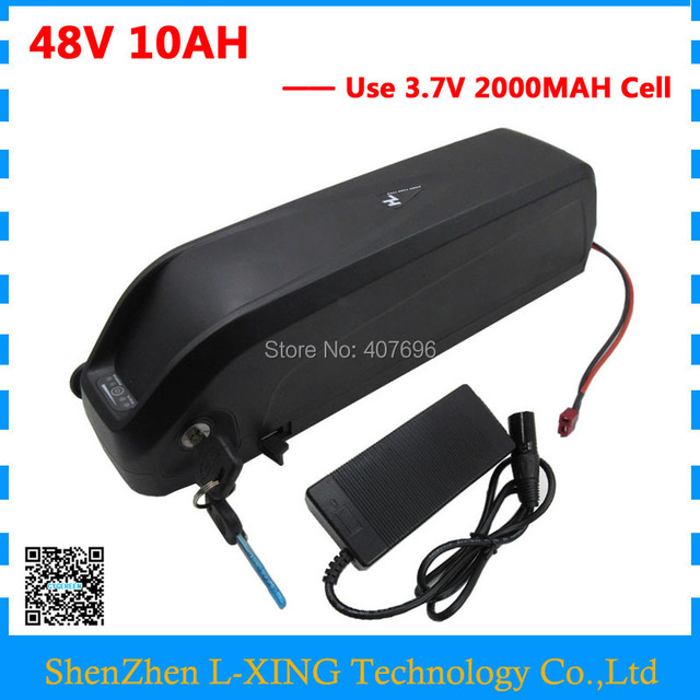48 V Hailong battery 48Volt 500W lithium battery 48V 10AH Electric Bike battery with USB Port 54.6v 2a charger US EU Free Tax