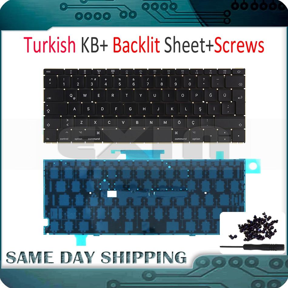 Early 2015 New A1534 Turkish Keyboard for MacBook Retina 12 A1534 Keyboard Turkish Turkey TR with