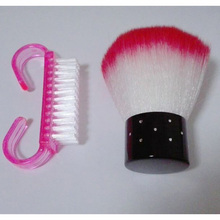 2 UNIDS Profesional Nail Art Limpieza Limpie El Polvo Del Cepillo de Uñas De Plástico Limpieza Cepilladora de Manicura Pedicura Herramienta Del Clavo