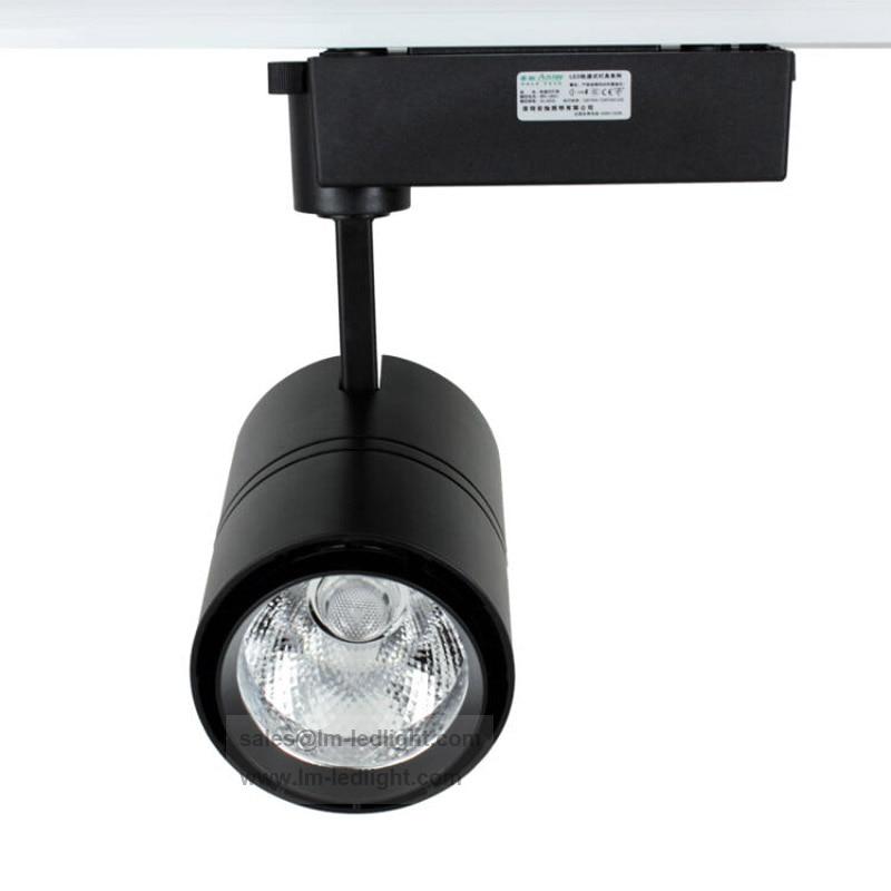 Led Track Light Head White: Led Light 30W LED Track Light 110 240V In Black White