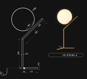 Image 4 - Modern LED Table Lamp Desk Lamp Light Shade Glass Ball Table Lamp Desk Light for Bedroom Living Room Floor Bedside Gold Designs