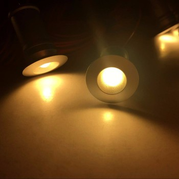 Kitchen Bar Lights | 1w Recessed LED Under Cabinet Lighting Downlights Spotlights Kit 9 Mini Lights For Kitchen Wardrobe Wine Bar Counter Hardwired