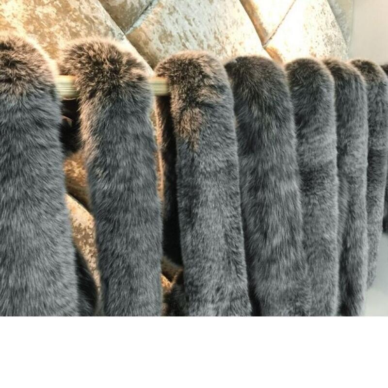 2018 Nouveau De Veste Chaud Mode Fox Green Noir Hiver army Fourrure D'hiver Européenne Canard Épaississement Parkas Femmes Col Manteau Duvet Réel xgfIqwEXg