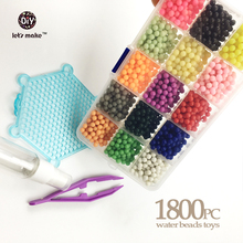 15Colour Water beads toys sticky perler beads pegboard set fuse beads jigsaw puzzle Water beadbond educational toys diy kids