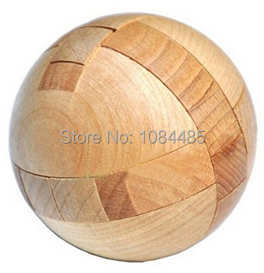 Hot 3D Wooden Ball Puzzle IQ Mind Brain Teaser Puzzles Game for Adults Children