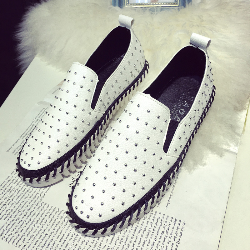 2016 New Spring Summer Fashion Flat font b Women b font Loafers Shoes Platform A Pedal