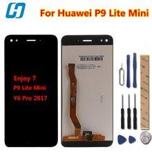 Ограниченное предложение Hacrin для Huawei P9 Lite мини ЖК-дисплей Дисплей + Сенсорный экран 100% новое дигитайзер Экран Стекло Панель для Huawei наслаждаться 7 /Y6 Pro 2017