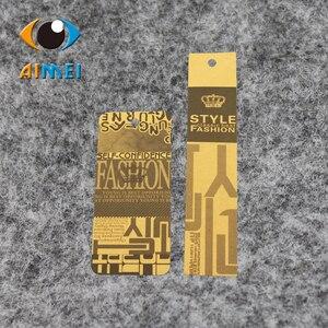Image 2 - Ücretsiz kargo özelleştirilmiş/asmalı özeletiketler kumaş baskılı giysi etiketi, salıncak etiketleri, OEM askılı etiketler etiketleri/giyim kişiselleştirilmiş