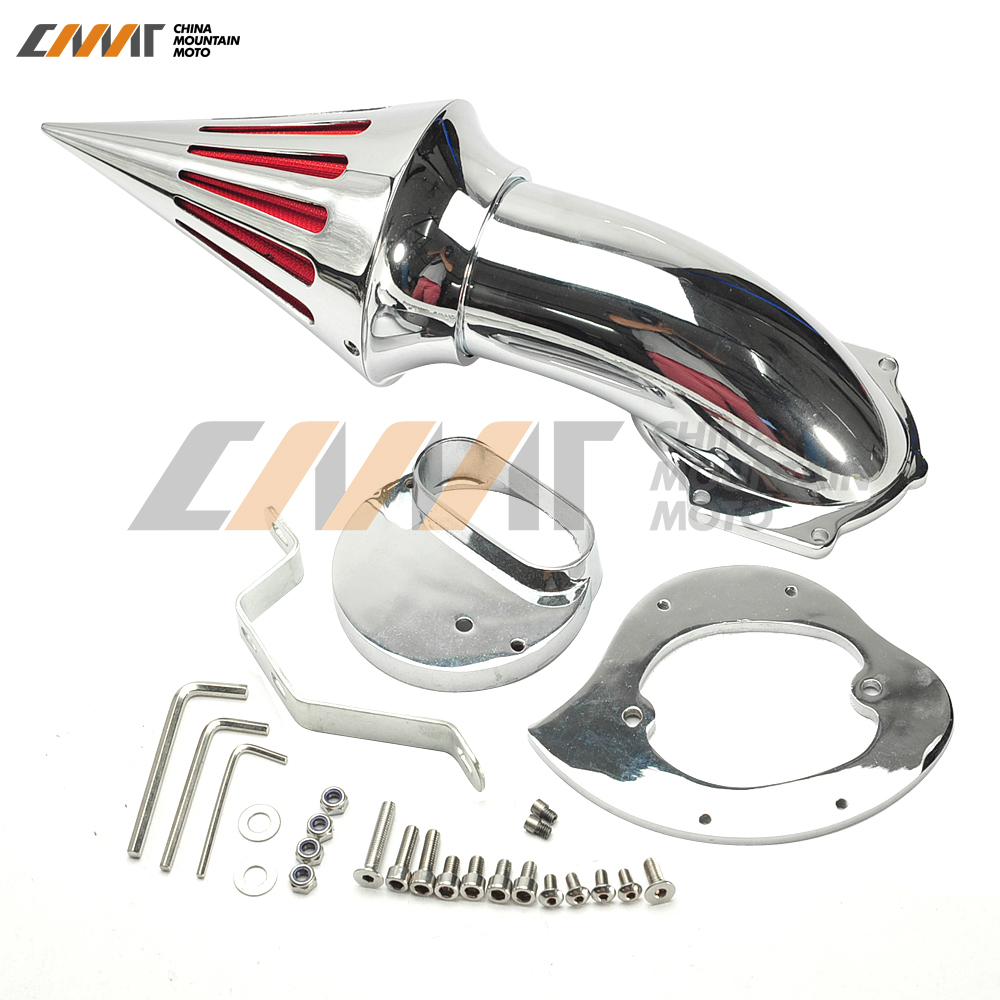 Chrome Spike Air Cleaner Intake Filter case for Yamaha V-star XVS1100 Classic Custom motorcycle parts racing custom amber bulbs blinkers indicators turn signals accessories lights chorme fit for yamaha v star vstar v star xvs 1100 silverado
