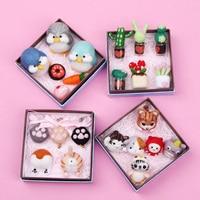 Cartoon animal Set Non Finished Felting Poked Wool Felt Poked Set Handmade DIY Material Package Felt for Needle craft