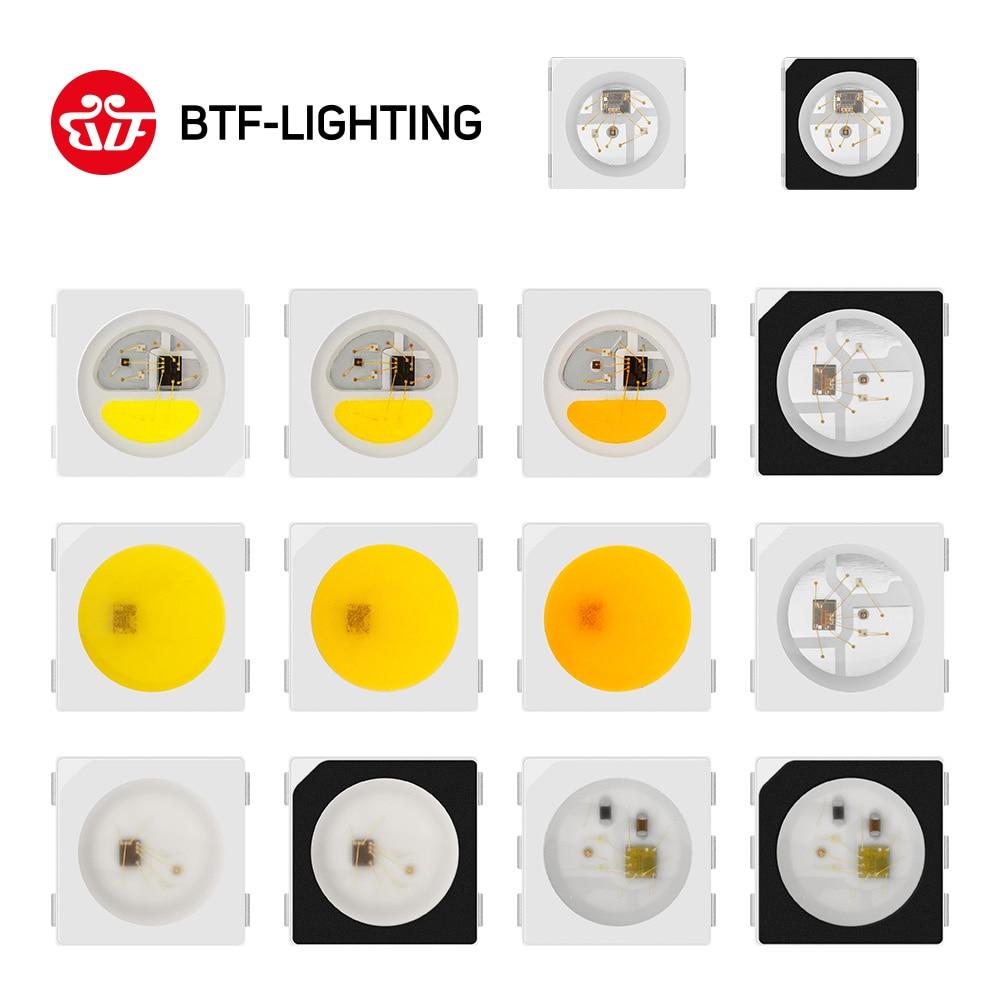 10 ~ 1000 pièces SK6812 RGBW/WWA 5050/3535/4020 WS2813 SK9822 APA102 individuellement adressable numérique rvb polychrome puce LED Pixels