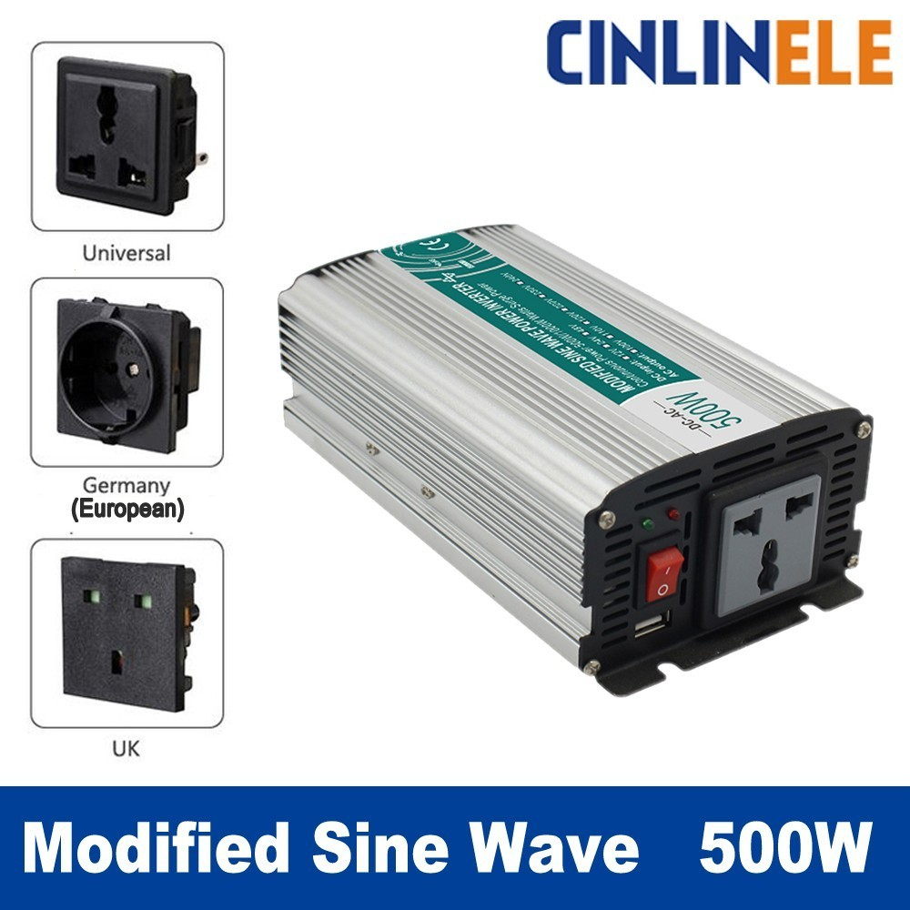 Smart Modified Sine Wave Inverter 500W CLP500A DC 12V 24V to AC 110V 220V Smart Series Solar Power 500W Surge Power 1000W whm1000 242 smart 1000w 24v dc to ac 220v 230v 50hz modified sine wave solar power inverter