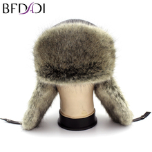 BFDADI 2018 Winter Warm Proof Trapper Hat, Russian Hat, Sport Outdoor Earflaps Bomber Caps For Men Free Shipping