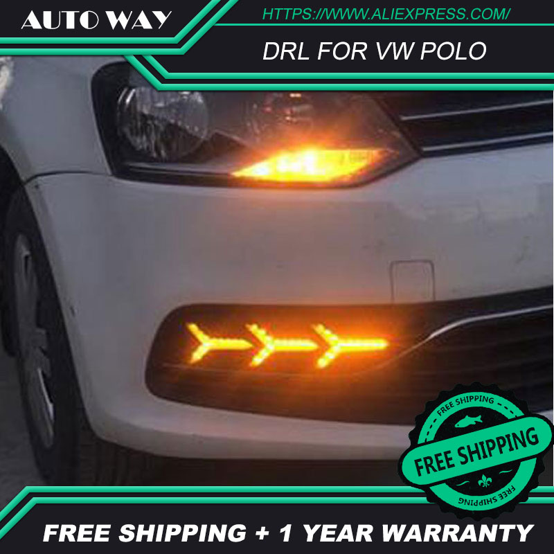 Free shipping ! 12V 6000k LED DRL Daytime running light case for VW Polo 2014-2018 fog lamp frame VW Polo Fog light Car styling стоимость