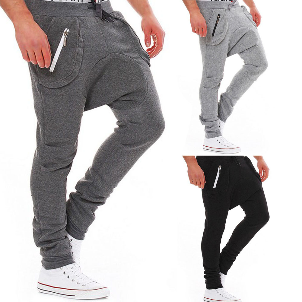 Casual New Men Adult Fashion Baggy Harem Pants Boys Skinny Pencil Trousers Sweat Pants H9