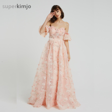 superkimjo Prom Dresses Short Sleeve Evening Dresses