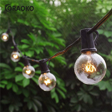String Light g40 25Ft Clear Balls Bulb 25pcs Party Outdoor Holiday Fairy lights Lumineuse Luces Decoracion