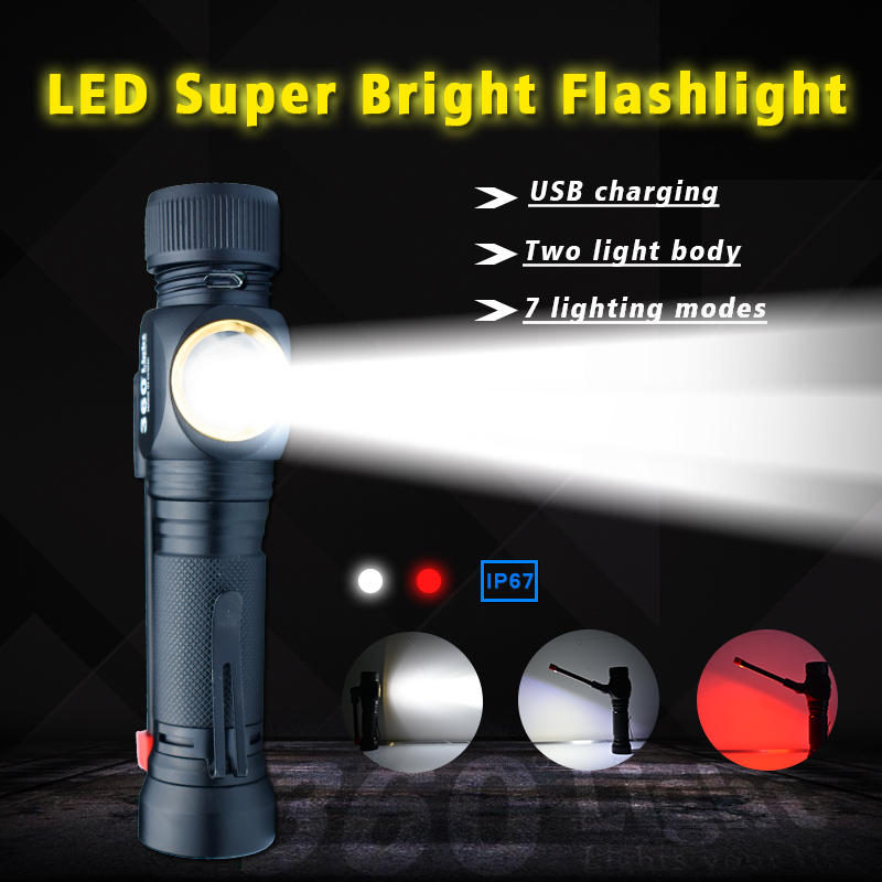 USB Rechargeable ULTRABRIGHT Flashlight Torch Mini LED Outdoor Camping Light