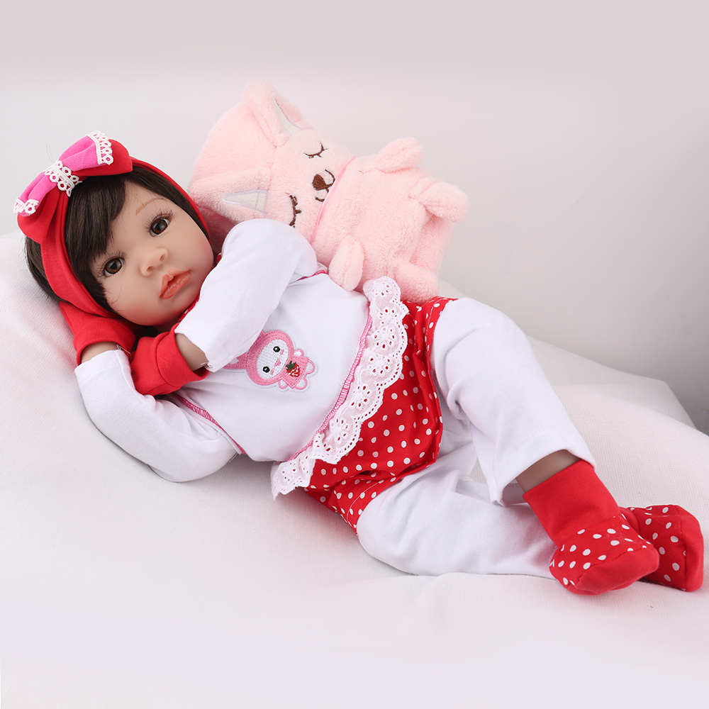 Bebes Reborn Doll  57CM Very Big Silicone Babies Doll With Pink Plush Blanket 3 Month Baby Reborn Toddler Surprice Doll Gift For