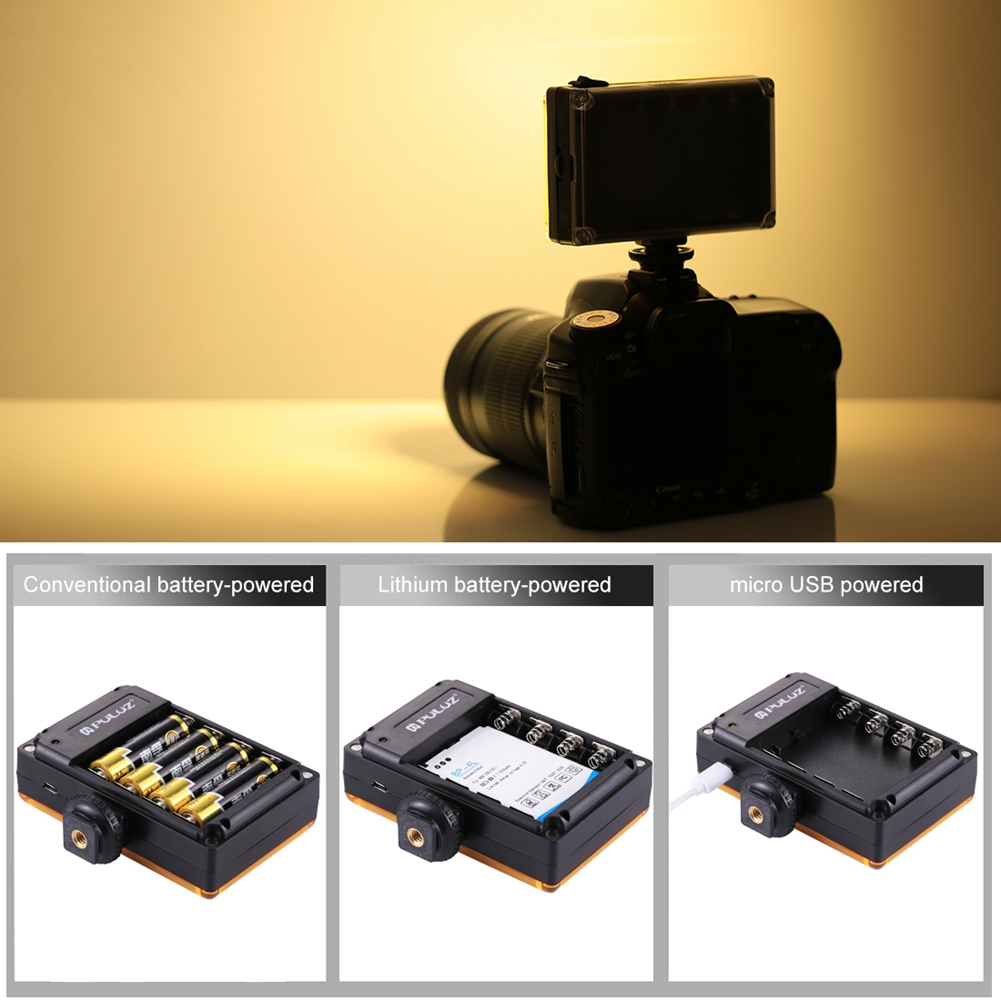 PULUZ NEW 96 LED Panel Video Light Dimmable Photo Fill Light on Camera Video Hotshoe LED Lamp Lighting for Camera Camcorder DSLR