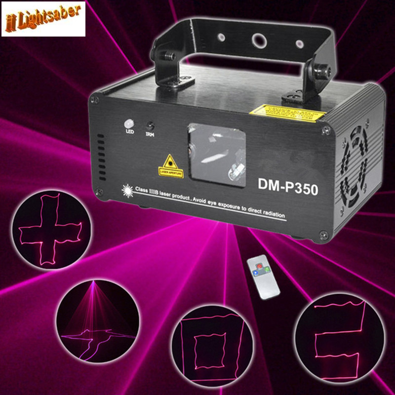 New DMX512 350mW Pink Laser Projector Stage Lighting Effect Laser Scanner Light DJ Club Disco Party Wedding Home Show Lights retail new led stage light full color e27 big adjustment dj party wedding club projector ac 85 265v free shipping
