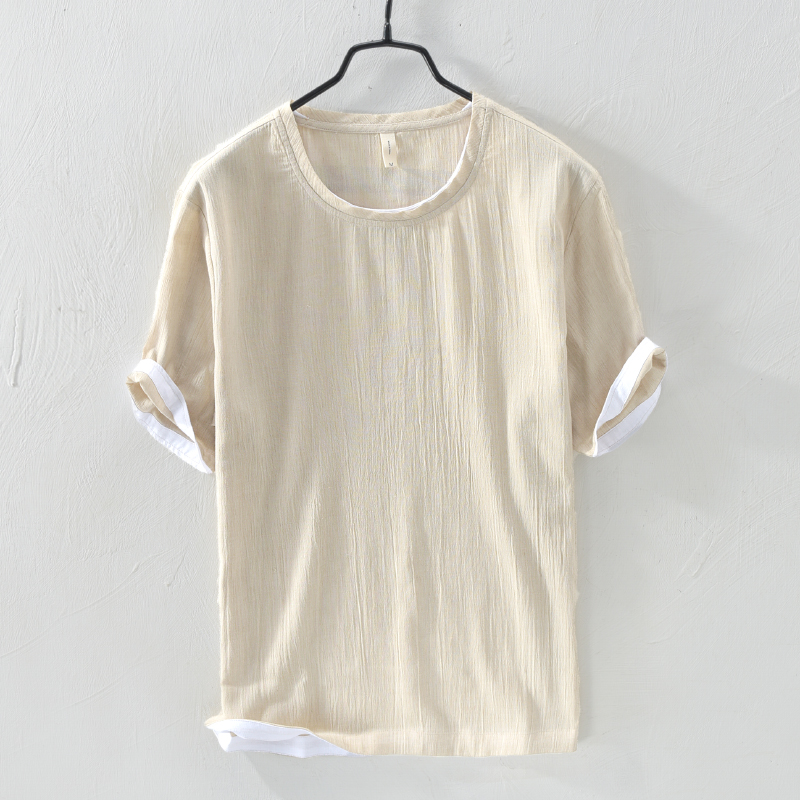 New style short sleeve cotton t-shirt men solid khaki t shirt mens summer brand tshirt male casual loose t shirts chemise