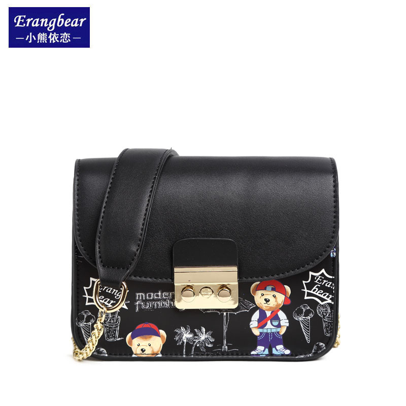 Erangbear Women Bags Fashion Brand Famous Designer Mini Shoulder Bag Woman Chain Crossbody Bag Messenger Handbag Bolso Purse cool walker mini chain bag handbags women famous brand luxury handbag women bag designer crossbody bag for women purse bolsas