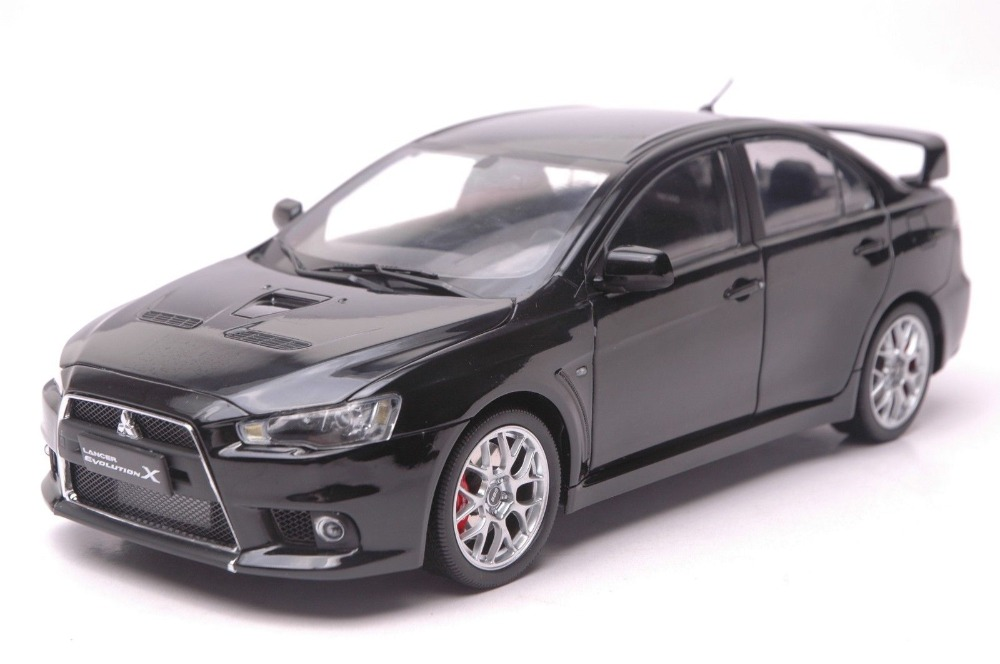 1:18 Diecast Model for Mitsubishi LANCER EVO X 10 BBS Wheels Black Alloy Toy Car Collection Gifts Evolution