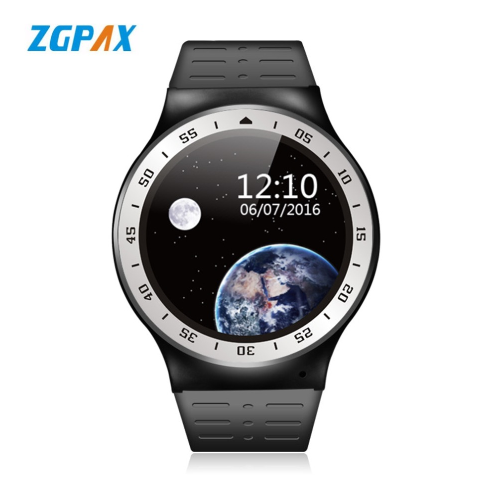 ZGPAX S99A Android 5 1 Smart Watch MTK6580 8GB ROM 400mAh Bluetooth Heart Rate Monitor WiFi