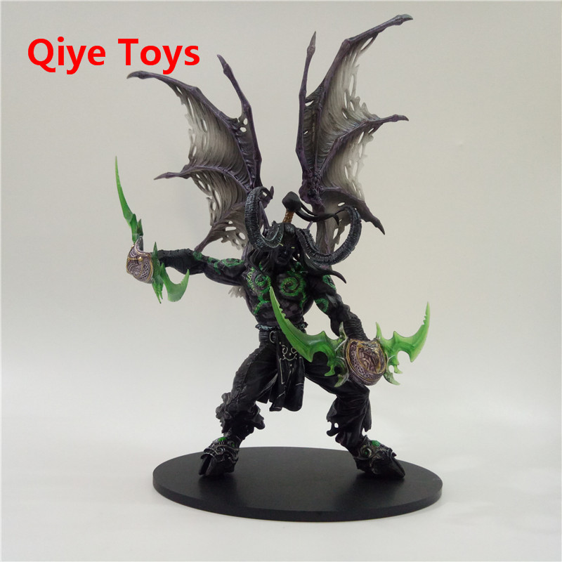 29cm WOW Demon hunter Form ILLIDAN STORMRAGE Deluxe Collector Action Figure BLACK Purple Model Toy Gift29cm WOW Demon hunter Form ILLIDAN STORMRAGE Deluxe Collector Action Figure BLACK Purple Model Toy Gift