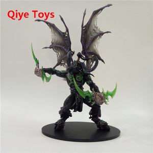 29cm WOW Demon hunter Form ILLIDAN STORMRAGE Deluxe Collector Action Figure BLACK Purple Model Toy Gift(China)