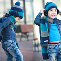 1 Piece New Baby Autumn Winter Warm Hats & Scarf  Set Woolen Cap For Baby 1-8 Years Hat Unisex Boys Girls Pink Red Orange Blue