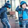 1 Unidades Del Nuevo Bebé Otoño Invierno Cálido Sombreros y Bufanda de Lana Cap Para El Bebé 1-8 Años Sombrero Unisex Niños Niñas Rosa Rojo Naranja azul