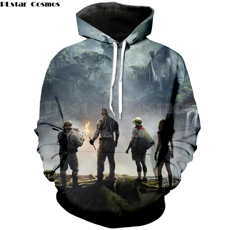 PLstar Cosmos Jumanji: Welcome to the Jungle 3d printing hoodies men and women loose thin sweatshirt fashion casual cool hoodie