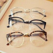 Прозрачная Оправа очков для мужчин и женщин, очки против усталости, кошачий глаз, высокое качество, компьютерные очки для мужчин, ретро оптические линзы