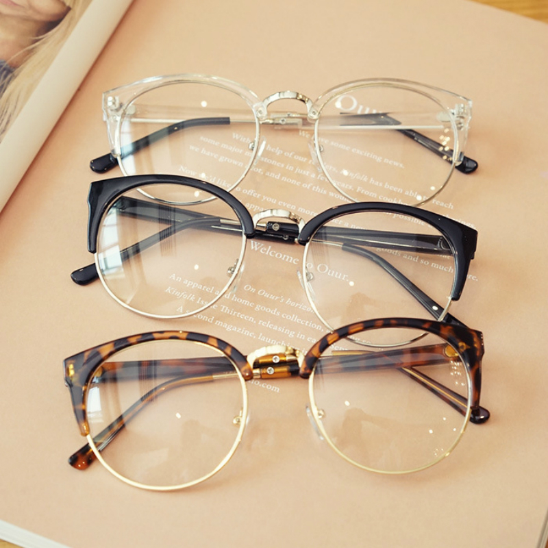 Transparent Spectacle Frame For Men Women Glasses Anti-fatigue Cat Eye High Quality Computer eyeglasses men Retro Optical Lens image