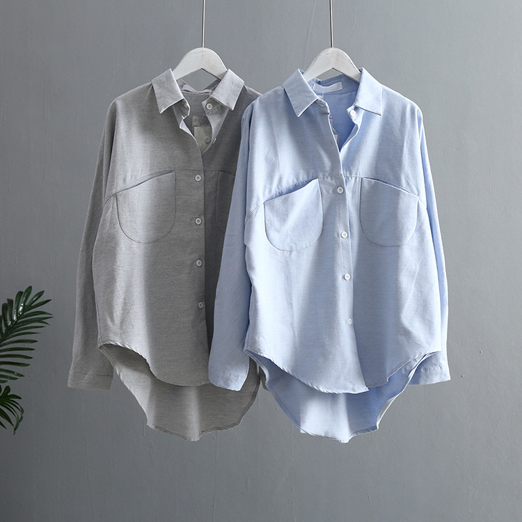 Blouse Korean Long Sleeve Tops And Blouses Vintage Women Shirts 9