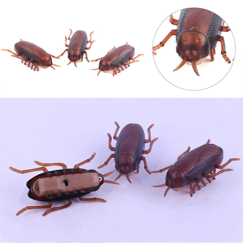 1Pcs Horrible Move Cockroach Electricity Fake Cockroach Toy Insects Prank Joke Scary Trick Bugs For Halloween