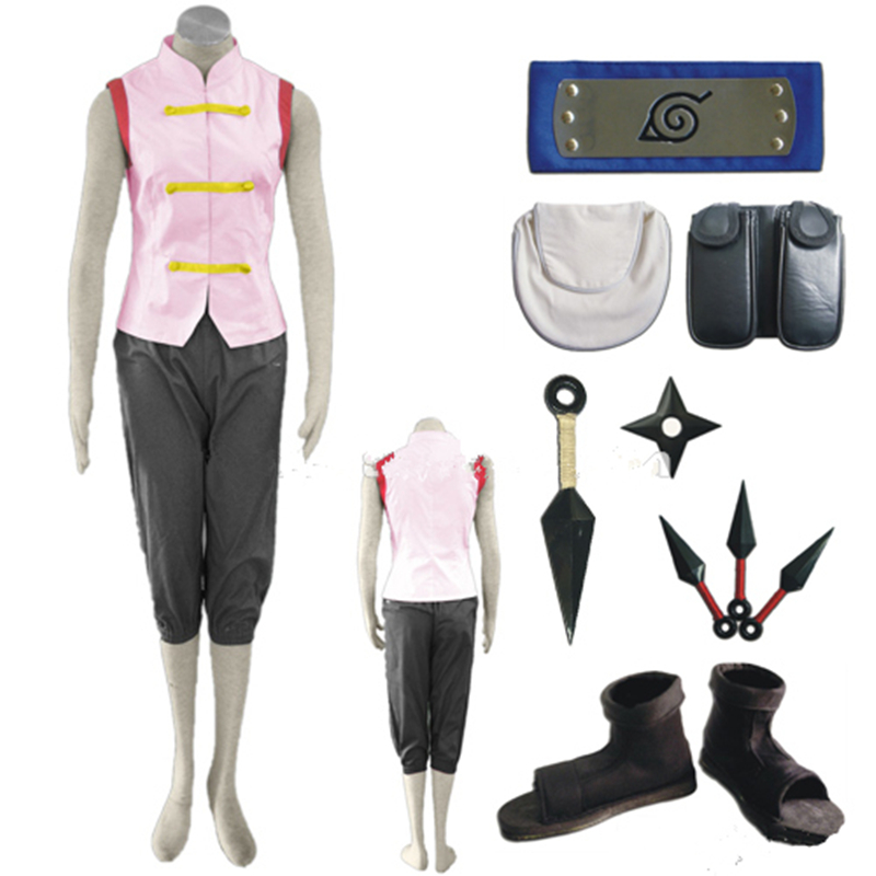 Anime Naruto Shippuden Tenten 1st Cosplay Costume Full Set ...