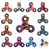 20 Types Tri Fidget Hand Spinner Toy Luminous Colorful Spiner Light in dark For ADHD EDC Sensory Anxiety Stress Relief Focus boy