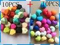 Contas de Silicone DIY geometria 10 PCS + coração 10 PCS 2 em 1 Silicone dentição beads Food Grade Silicone colar