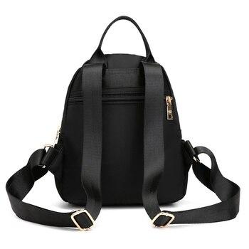 Fashion Nylon Small Backpack Women Waterproof Flower Travel Multi-function Beach Soft Shoulder School Bag Bagpack 2